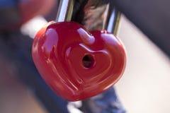 Heart shaped love padlocks on the bridge as a symbol of eternal Stock Photography