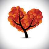 Heart shaped love tree with speech bubbles icons - vector Stock Photo