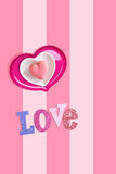 Heart shaped macaron Royalty Free Stock Images