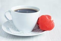 Heart shaped mararons Royalty Free Stock Photography