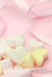 Heart-shaped marshmallow Royalty Free Stock Images
