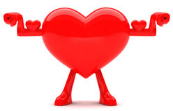 Heart shaped mascot Stock Photo