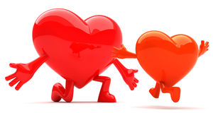 Heart shaped mascot Royalty Free Stock Images