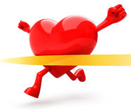 Heart shaped mascot Royalty Free Stock Image