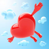 Heart shaped mascot Stock Image