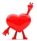 Heart shaped mascot Stock Photos