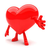 Heart shaped mascot Royalty Free Stock Photo