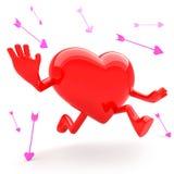 Heart shaped mascot Royalty Free Stock Photos