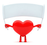 Heart shaped mascot with message Royalty Free Stock Photo