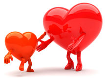 Heart shaped mascots Royalty Free Stock Photography