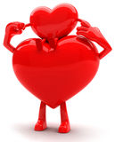 Heart shaped mascots Royalty Free Stock Photo