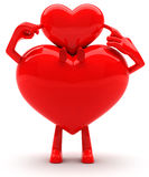 Heart shaped mascots Royalty Free Stock Photos
