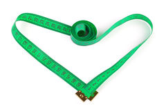 Heart shaped measuring tape royalty free stock image