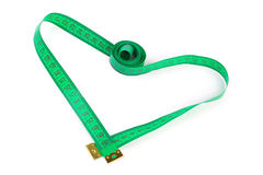 Heart shaped measuring tape Stock Image