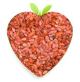 Heart shaped melon seeds. Heart shaped red melon seeds Royalty Free Stock Photography