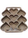 Heart shaped metal pan Royalty Free Stock Photo