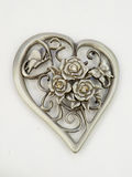 Heart shaped metal roses Stock Photography