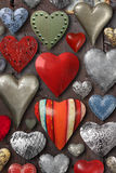 Heart shaped metal things Royalty Free Stock Photos