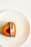Heart-shaped mini cake Stock Image