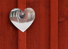 Heart shaped mirror Stock Images