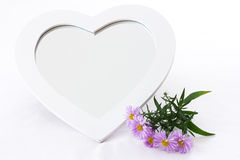Heart shaped mirror Royalty Free Stock Images