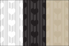 Heart shaped modern line pattern vector background Stock Photos