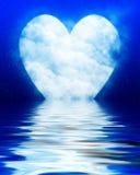 Heart shaped moon stock illustration