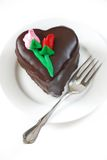 Heart-shaped mousse cake Stock Image