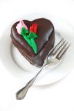 Heart-shaped mousse cake Stock Image