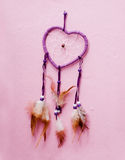 Heart shaped native american dreamcatcher. Royalty Free Stock Image