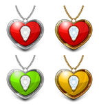Heart shaped necklace Stock Photos