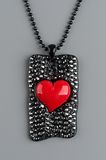 Heart shaped necklace Stock Photography