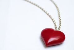 Heart shaped necklace Royalty Free Stock Images