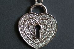 Heart shaped necklace with keyhole