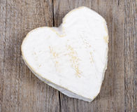 Heart shaped Neufchatel cheese on a table Stock Photos