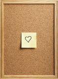 Heart-shaped note Royalty Free Stock Images