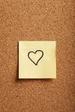 Heart-shaped note Royalty Free Stock Photography