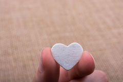 Heart shaped object in hand Royalty Free Stock Photography