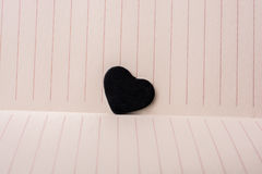 Heart shaped objects on lined paper. Heart shaped objects on the lined paper Royalty Free Stock Images
