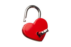Heart shaped opened lock Royalty Free Stock Images