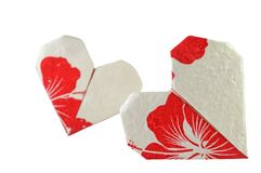 Heart shaped origami Royalty Free Stock Photography