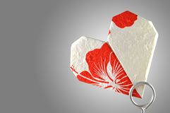Heart shaped origami Royalty Free Stock Images