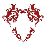 Heart shaped ornate calligraphic elements Royalty Free Stock Photo