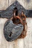 Heart shaped padlock stock image