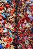 Heart-shaped Padlocks Royalty Free Stock Photography
