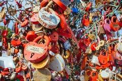 Heart-shaped Padlocks Stock Photo