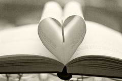 Heart shaped page Stock Images