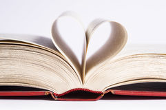 Heart shaped pages Royalty Free Stock Photography