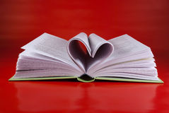 Heart-shaped pages. Stock Photo