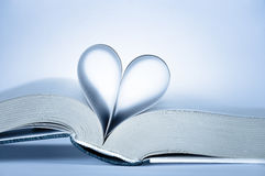 Heart shaped pages Royalty Free Stock Image